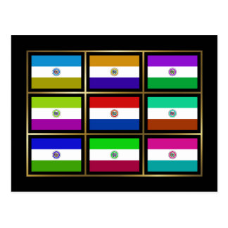 Paraguay Multihue Flags Postcard