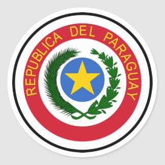 Paraguay National Flag Classic Round Sticker