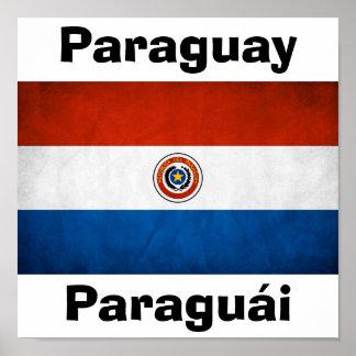 Paraguay National Flag Poster