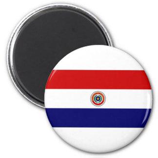 Paraguay Naval Jack 6 Cm Round Magnet