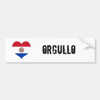 Paraguay orgullo(pride) car bumper sticker