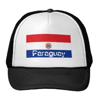 Paraguay paraguayan flag trucker mesh souvenir hat