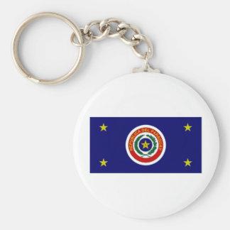 Paraguay President Flag Keychain