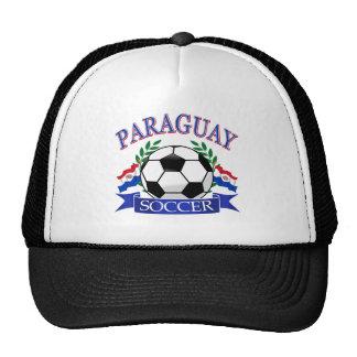 Paraguay soccer ball designs mesh hats