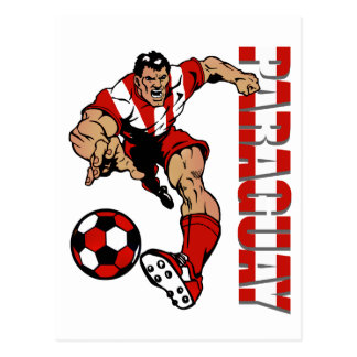 Paraguay soccer fans soccer player gifts postcard
