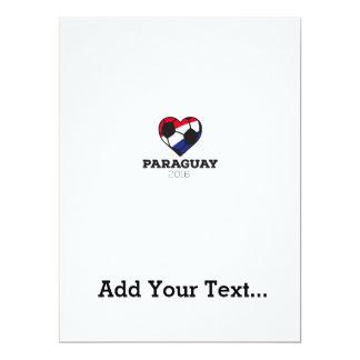 Paraguay Soccer Shirt 2016 17 Cm X 22 Cm Invitation Card