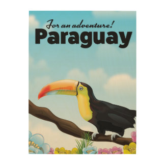Paraguay Toucan travel poster