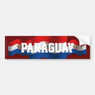 Paraguay Waving Flag Bumper Sticker