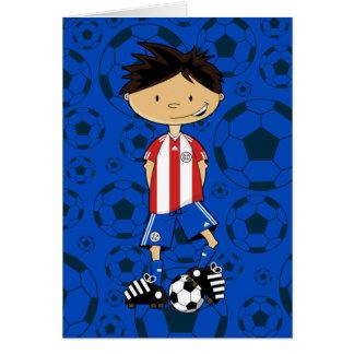 Paraguay World Cup Soccer Boy Card