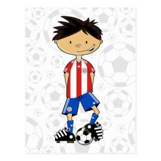 Paraguay World Cup Soccer Boy Postcard