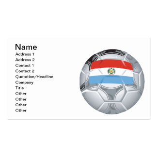 Paraguayian Soccer Ball Double-Sided Standard Business Cards (Pack Of 100)