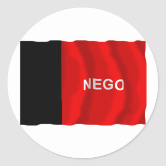 Paraíba, Brazil Waving Flag Round Sticker