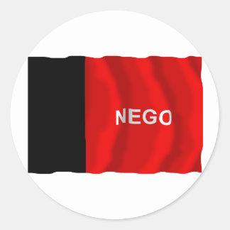 Paraíba, Brazil Waving Flag Round Stickers