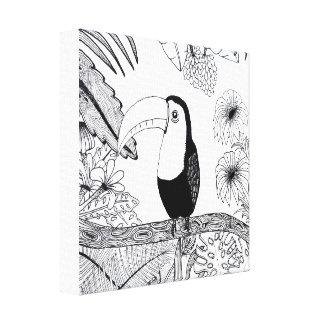 Paraíso Toucan Canvas Print