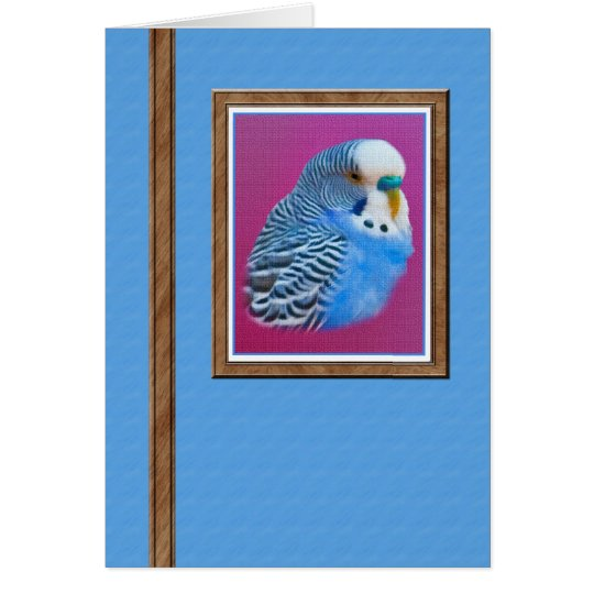 Parakeet Blank Note or Greeting Card. Card