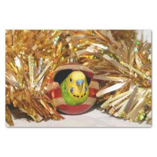 Parakeet Christmas Tissue Paper