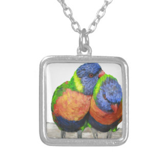 Parakeet Love Birds Personalised Necklace