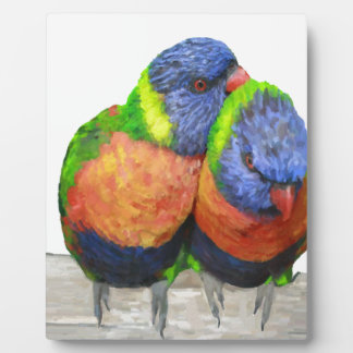 Parakeet Love Birds Plaque
