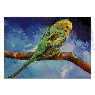 Parakeet Painting Card