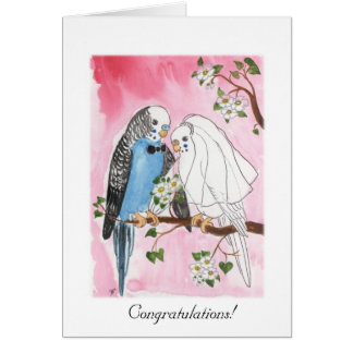 Parakeet Wedding card