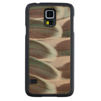 Parakeet Wing Feather Design Carved Maple Galaxy S5 Case
