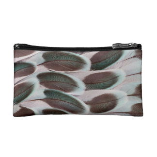 Parakeet Wing Feather Design Cosmetic Bag