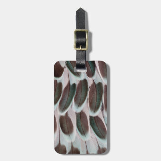 Parakeet Wing Feather Design Luggage Tag