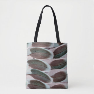 Parakeet Wing Feather Design Tote Bag