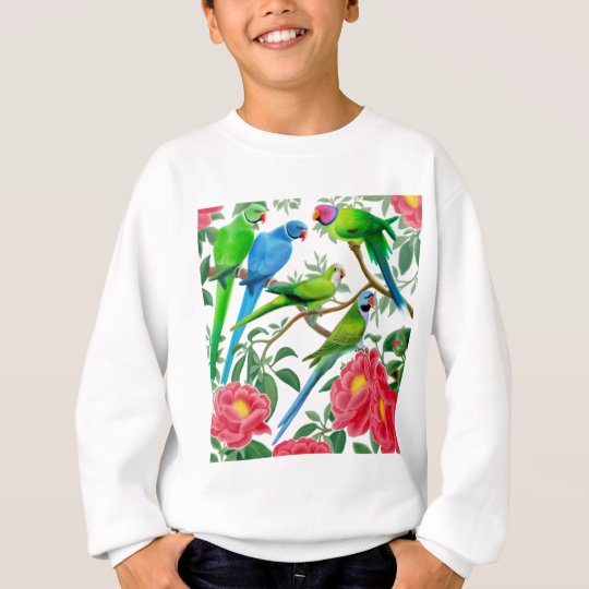 Parakeets and Peonies Sweatshirt