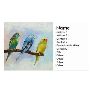 Parakeets Business Card