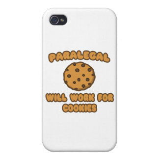 Paralegal .. Will Work for Cookies Cases For iPhone 4