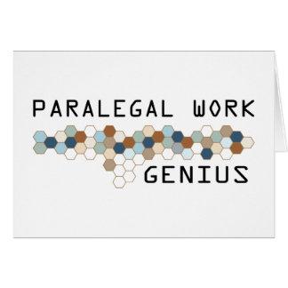 Paralegal Work Genius Greeting Card