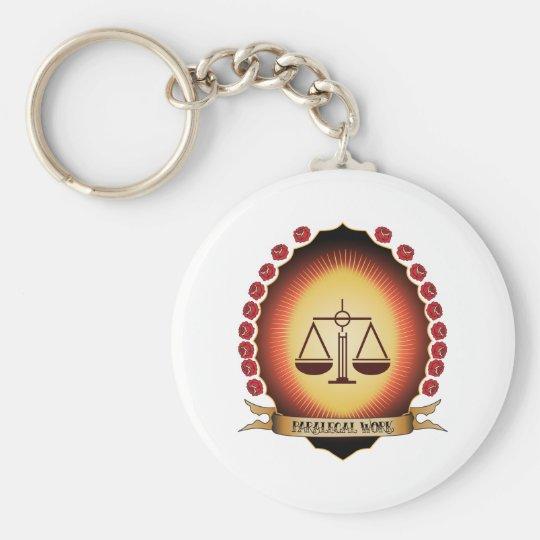 Paralegal Work Mandorla Basic Round Button Key Ring