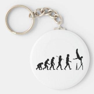 Parallel Bars Gymnastics Evolution Basic Round Button Key Ring