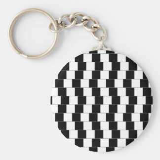 Parallel Lines Basic Round Button Key Ring