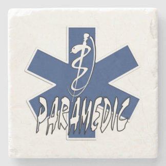Paramedic Action Stone Beverage Coaster
