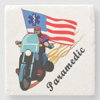 Paramedic Bikers Stone Beverage Coaster