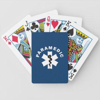 Paramedic EMS Logo Bicycle Playing Cards