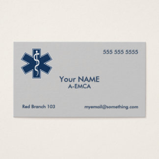 Paramedic EMT EMS Business Card