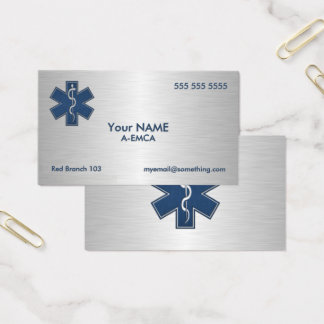 Paramedic EMT EMS Deluxe Business Card