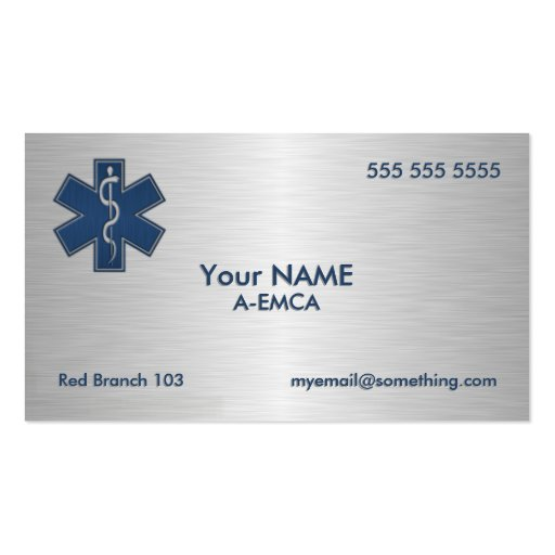 Paramedic EMT EMS Deluxe Business Card Template