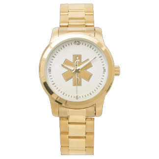 Paramedic EMT EMS Gold Watch