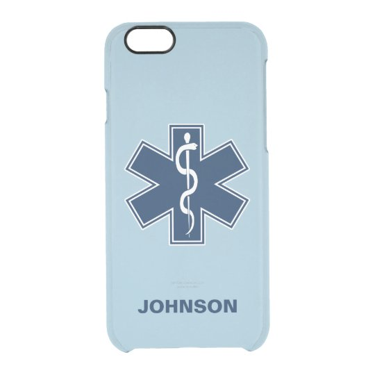 Paramedic EMT EMS Name Template Clear iPhone 6/6S