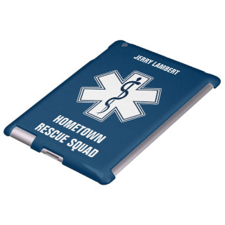 Paramedic EMT EMS Name Template iPad Case