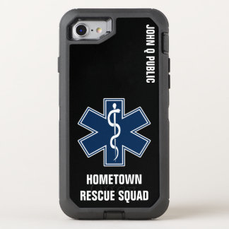 Paramedic EMT EMS Name template OtterBox Defender iPhone 8/7 Case