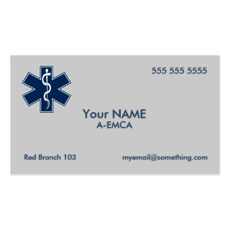 Paramedic EMT EMS Pack Of Standard Business Cards