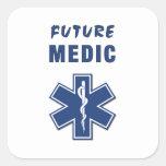 Paramedic Future Medic Square Stickers