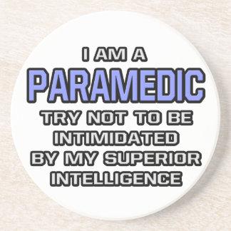 Paramedic Joke ... Superior Intelligence Beverage Coasters