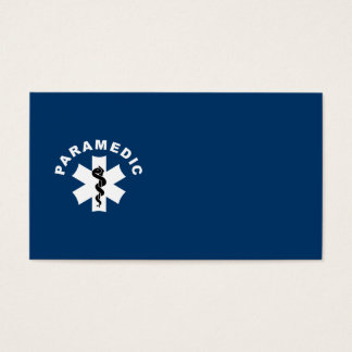 Paramedic Logo Theme Business Card