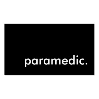 paramedic. pack of standard business cards